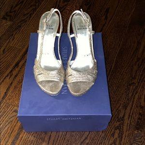 Gold sparkle Stuart Weitzman Sandals
